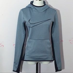 Nike Dri-Fit Blu and Gray Striped Hoodie
